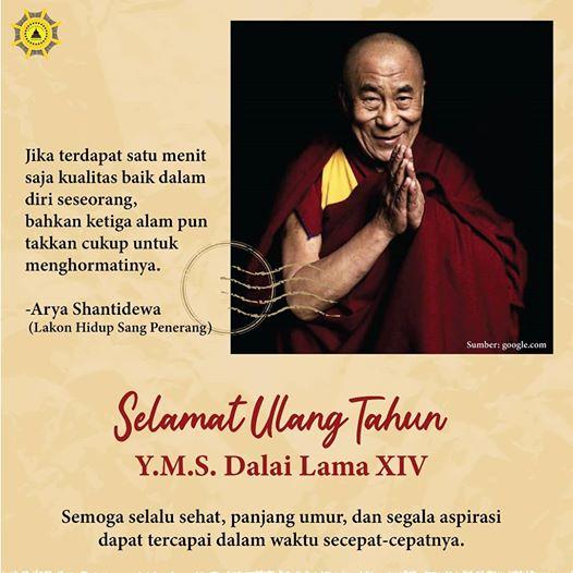 Selamat Ulang Tahun Yang Terkasih Y.M.S Dalai Lama XIV
