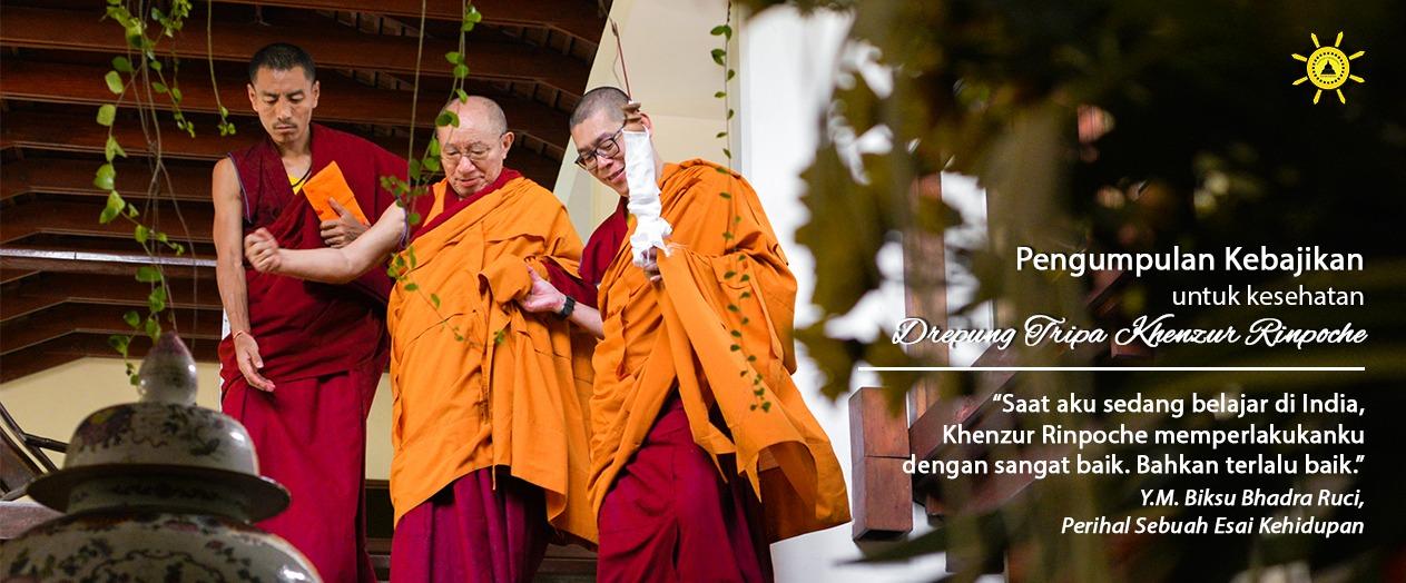 Pengumpulan Kebajikan untuk Kesehatan Drepung Tripa Khenzur Rinpoche